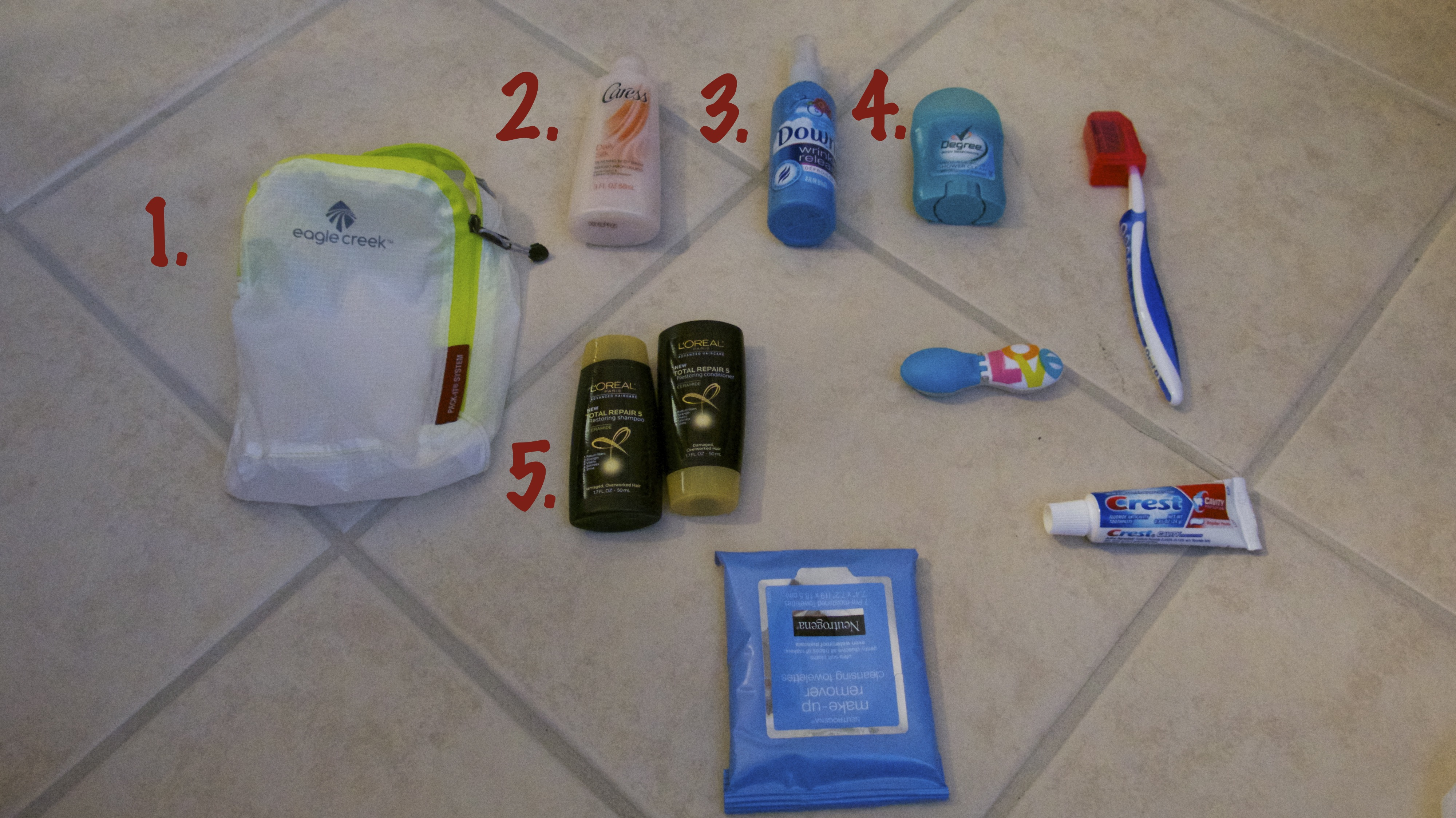 how to pack toiletries for air travel